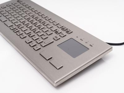 Backplane Systems Technology Announces InduKey's TKV-084-FIT-Touch-IP65-MGEH Stainless Steel Keyboard Series with Integrated Touchpad