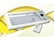 TKS-105a-TB38-RF-KGEH Wireless Membrane Industrial Keyboard with Integrated Trackball